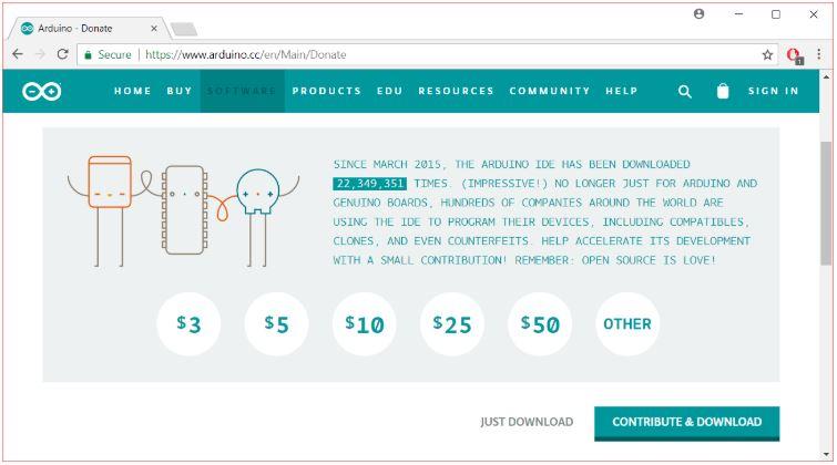 Arduino İndirme Sayfası