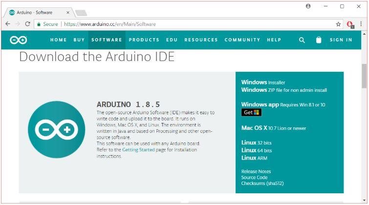 Arduino İndirme Linki