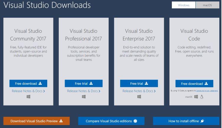 Visual Studio Download