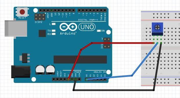 Arduino Trimpot Analog Okuma