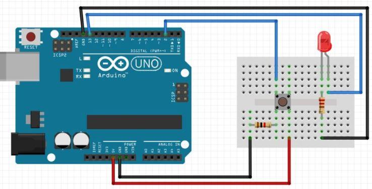 Arduino Buton Led Bağlantısı