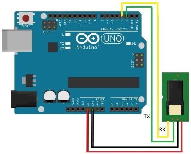 Parmak izi Okuyucu Sensor Arduino Bağlantısı