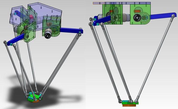 Paralel Robot Solidworks Çizimleri