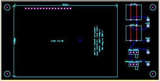 Paralel Robot LCD Ekran Katı Baskı Devresi