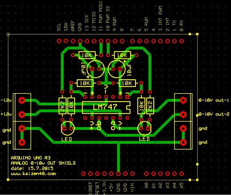 Arduino 0-10V Analog Shield Baskı Devre