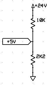 Arduino +24V gerilim bölücü devresi