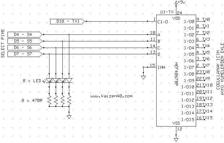 16 Kanal Arduino Mux/Demux