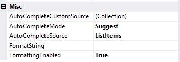 C# Combobox Otomatik Doldurma