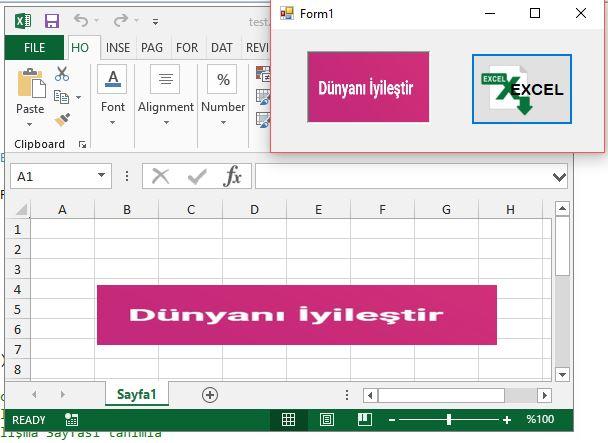 C# ile Excel Hücresine Resim Eklemek
