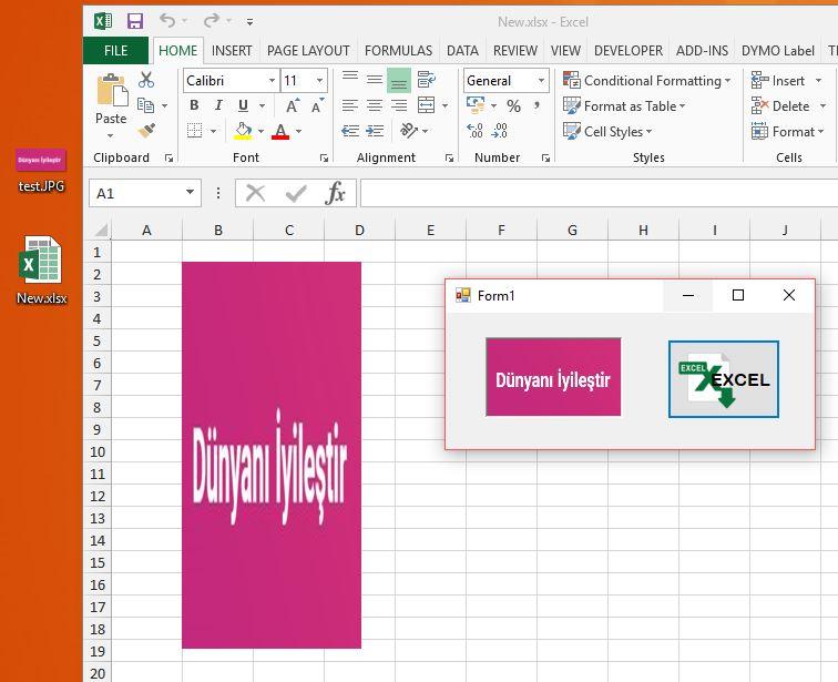 C# ile Excel Hücresine Resim Yükleme