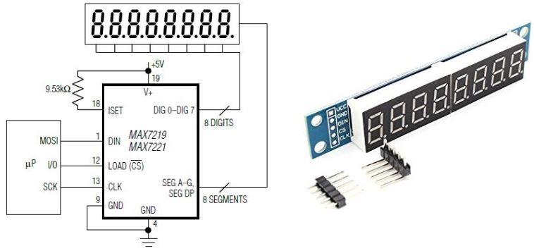 max7219 7-segmentli display nas u0131l kullan u0131l u0131r