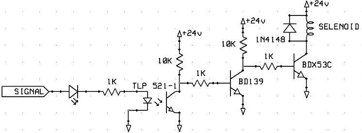 Optocouplor Selenoid Valf Kontrol Devre Şeması