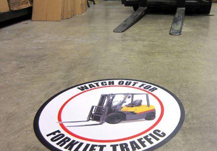 Yer Trafik İşaretleri - Forklif çıkabilir
