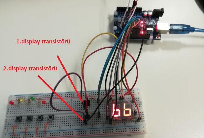 Arduino Double Segmentli Display Uygulaması