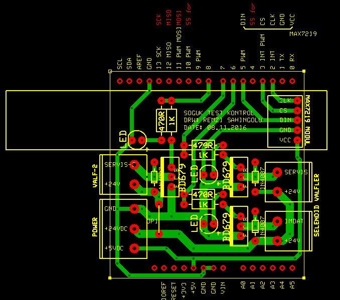 Ethernet Shield Valf Kontrol
