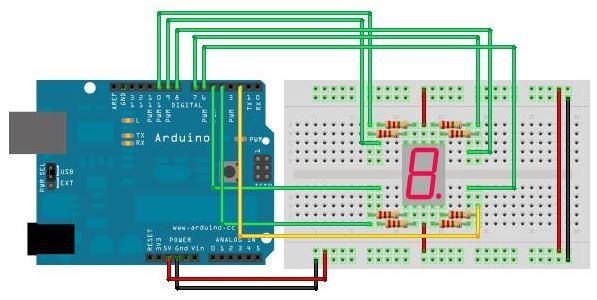 Arduino Segmentli Display Bağlantısı