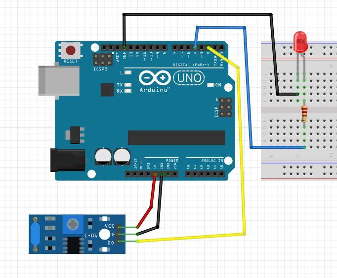 Arduino Titreşim Sensoru Uygulaması