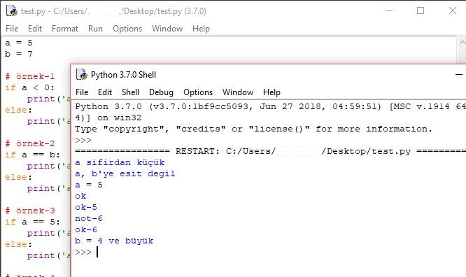 Python If Statement Kullanımı