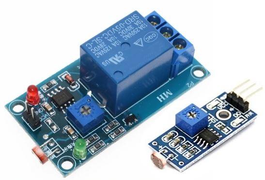 Arduino LDR Sensor Modül ve Röle Modülü