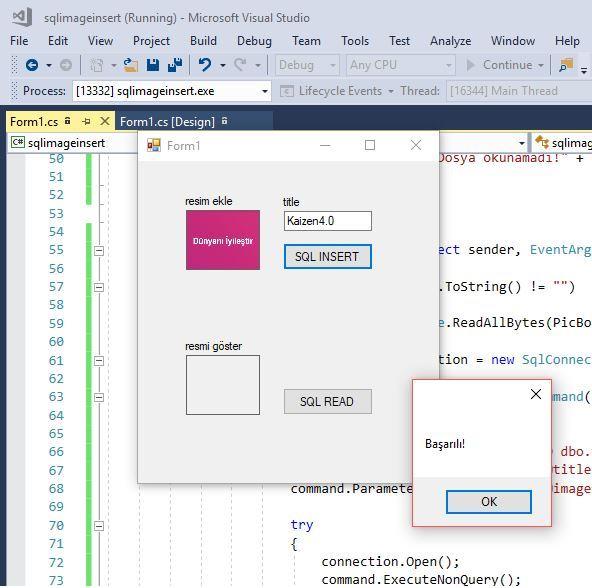 C# SQL image insert