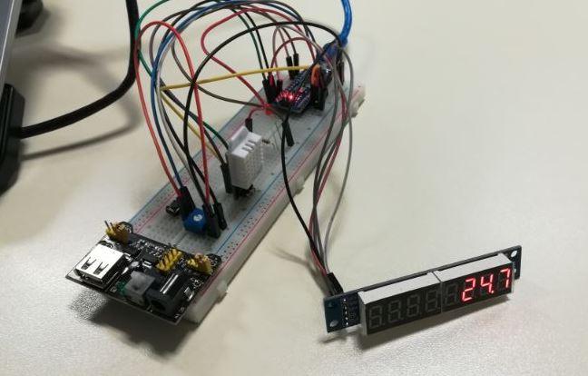 Arduino DHT11 MAX7219 ile sıcaklık sensor uygulaması