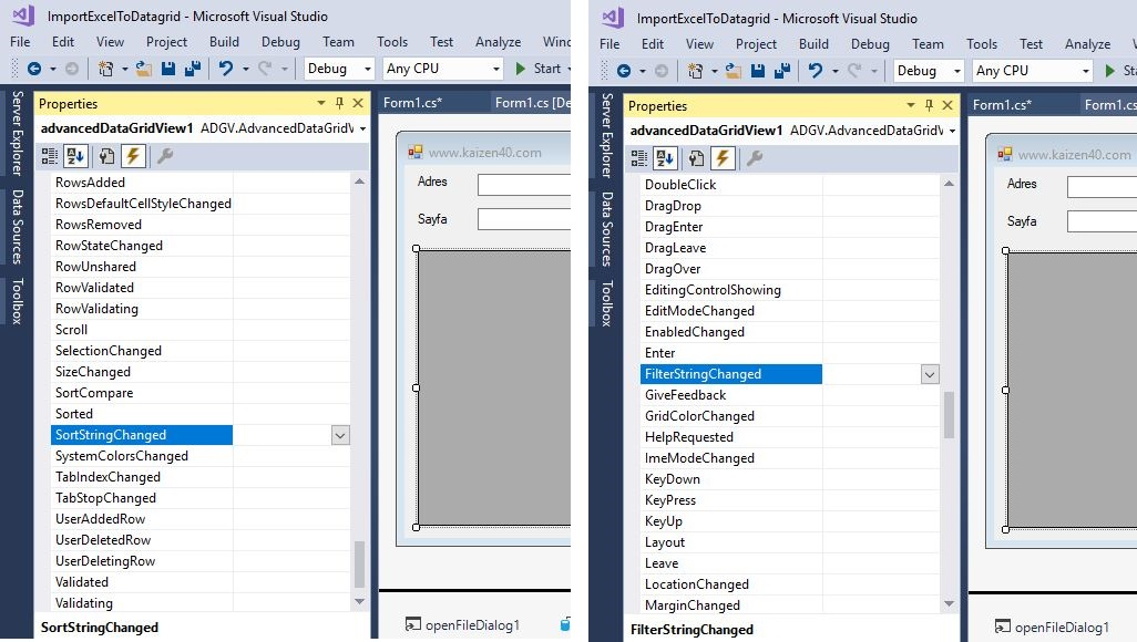 C# Datagridview Sort and Filter