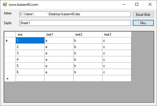 Import Excel to Datagrid