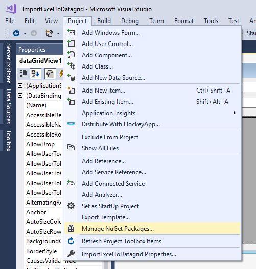 C# nuget Advanced DataGrid Filtering