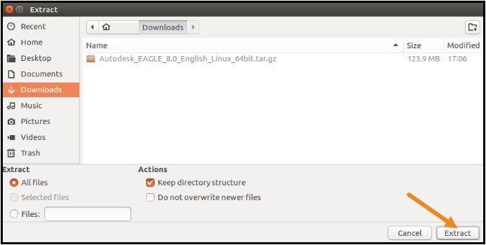 Eagle Kurulum Linux