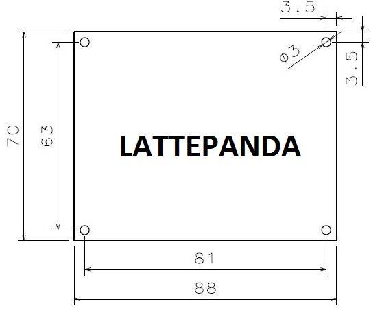 LattePanda Boyutları, Ölçüleri