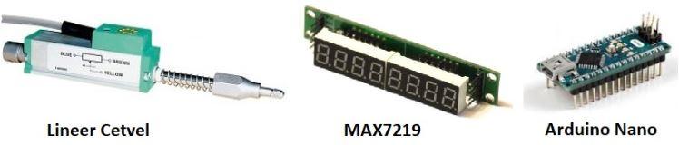 Arduino, MAX7219, Lineer Cetvel