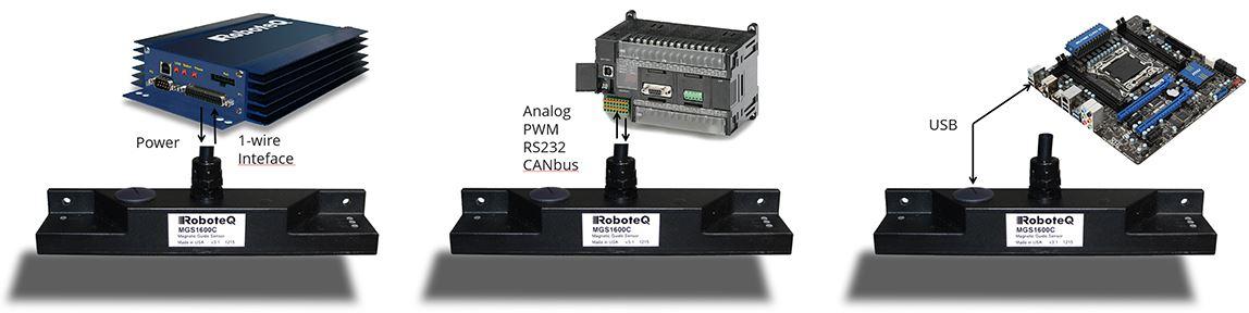 Roboteq mgs1600gy magnet sensor arayüz