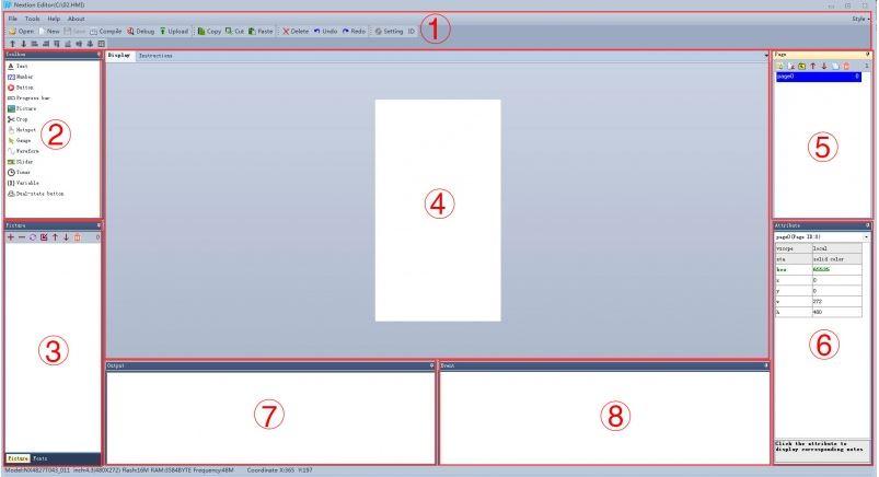 Nextion Editor Başlangıç Ekranı