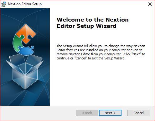 Nextion Editör Kurulum Ekranı