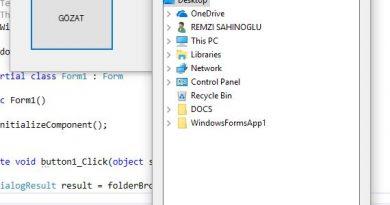 FolderBrowserDialog Kullanımı