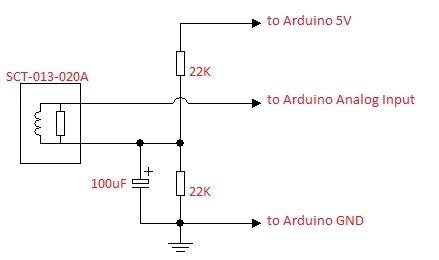 Akım Sensörü SCT-013-30A Devresi