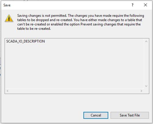 SQL Tablo güncellemede hata ekranı